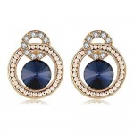 INDUS American Diamond Clip-On Earrings- Blue